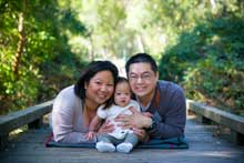 Asian couple with baby