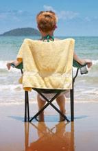 kid in beach chair