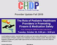 CHDP Provider Newsletter - Winter 2018