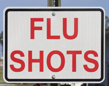 flu shots sign