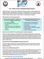 Flu-When to Visit a Hospital Flyer