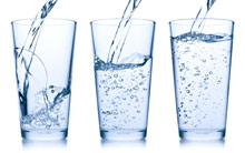 3 glasses of drinking water