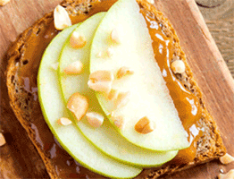 Peanut Butter and Fruit Sandwich