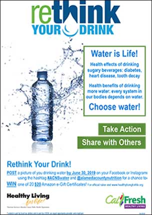 rethink your drink retail poster