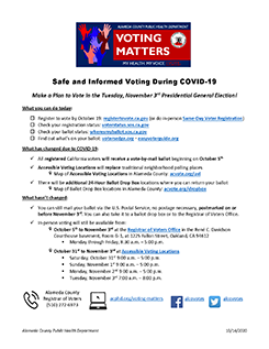 Safe and Informed Voting During COVID-19 thumbnail